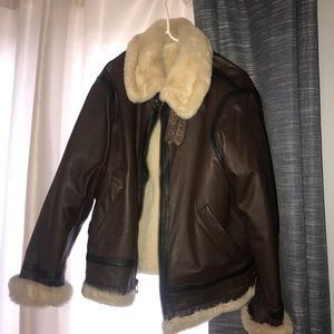Jackets & Blazers - Shearling leather coat